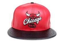 Chicago Bulls Red Black Faux Leather Air Jordan X Rem New Era 59Fifty Fitted Hat