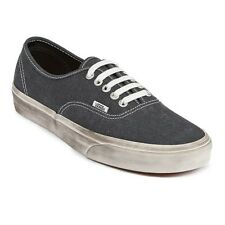Vans Authentic Unisex Sneakers Shoes Overwashed Black Urban Street Skate Shoes