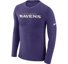 Limited Edition Nike NFL 2017 Baltimore Ravens Marled Wordmark Long Sleeve Shirt
