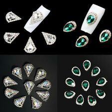 10Pcs 3D Rhinestone Crystal Alloy DIY Decoration Tips Nail Art Glitter Charm