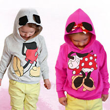 Kids Baby Girl Boy Mickey Minnie Mouse Hoodies Hoody Pullover Coat Outerwear Top