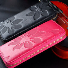Lady Women Leather Wallet Card Key Holder Zip Coin Purse Clutch Phone Bag Fast