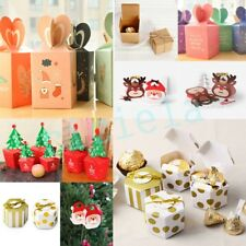 Christmas Eve Apple Gift Wrapping Boxes Candy Sweety Paper Boxes 20/30/50/100Pcs