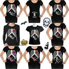Halloween Funny Maternity Pregnancy Easy Costume Announcement T-shirt S - 2XL