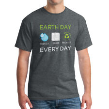 Earth Day Every Day Reduce Reuse Recycle Men's Dark Heather Environment T-shirt