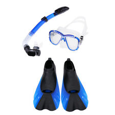 Adult Snorkelling Scuba Mask and Dry Snorkel and Fins Set Swimming Diving