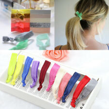 Women Elastic Hair Ties Knotted Candy Color Hairband No Crease Ponytail Holder