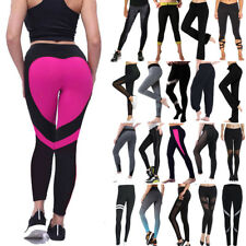 Women High Waist Yoga Leggings Trousers Ladies Fitness Running Sports Gym Pants