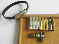 5 Sets Silver/Bronze/Gold 5mm Flat Magnetic Clasps For 5mm Flat Leather Cord