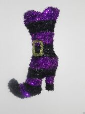 Halloween Tinsel Witch's Hat Witches Boot Wall Hanging or Door Hanging Decor 3