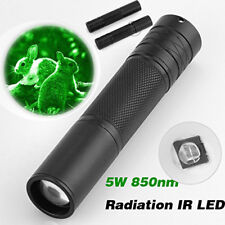 5W 850nm LED Infrared IR Flashlight Torch Zoomable For Night Vision Scope 18650