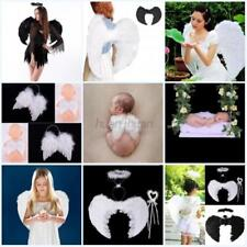 US Halloween Feather Wings Angel Fairy Fancy Dress Party Costume For Adults Kids