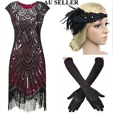 Women Roaring 1920s Sequin Gatsby Flapper Prom Cocktail Evening Party Mini Dress