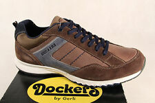 DOCKERS Lace-up Loafers Sneakers Trainers Brown Genuine Leather NEW