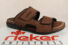 Rieker Mules Mules Clogs Brown Leather 25559 NEW