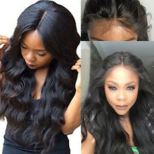 UK Sale 100% Remy Human Hair Full Lace Wig Lace Front Wigs Pre Plucked Hairline