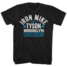 Mike Tyson Mens New Boxing T-Shirt BROOKLYN 100% Black Cotton  Sizes SM - 2XL