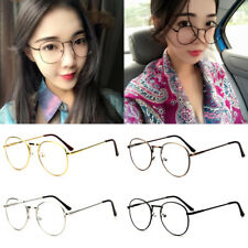 Unisex Nerd Glasses Clear Lens Eyewear Retro Fashion Metal Frame Men Women Party