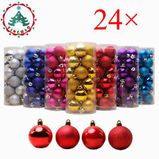24Pcs 30mm Christmas Xmas Tree Ball Bauble Hanging Party Ornament Decorations