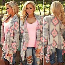 Womens Long Sleeve Cardigan Casual Loose Jacket Coat Poncho Outwear Sweater Top
