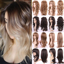 60/80Cm Cosplay Wig Full Wig Long Hair Curly Wave Straight Colorful Synthetic K3