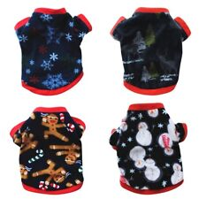Small Pet Dog Hoodie Clothes Jacket Coat Puppy Cats Doggy Fleece Shirt Sweater