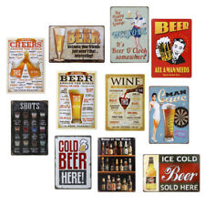 Tin Sign Retro Vintage Wall Poster Plaque for Home Bar Pub Shop Tavern Coffee
