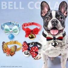 Dog Cat Puppy Bell Bow Tie Collar Pet Doggy Necktie Accessory Adjustable NEW