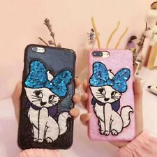 3D Cute Embroidery Animals Cat Back Case Cover For iPhone 8 6s 7 Plus