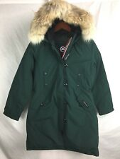NEW CANADA GOOSE KENSINGTON PARKA GREEN WOMENS 2506L DOWN COYOTE AUTHENTIC