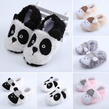 Winter Warm Soft Plush Cotton Baby Panda Sheep Shoes Prewalkers Newborn Boy Girl