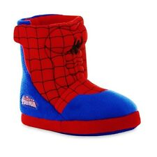 SPIDER-MAN MARVEL Plush Boot Costume Slippers NWT Size 9/10, 11/12, 13/1 or 2/3