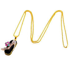 Crystal U-disk USB Flash Drive Memory Stick Jewelry Shoe Pendent & Necklace