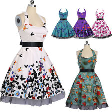 Women Lady Swing Party Prom Dress Halter Sweetheart 50s Butterfly Vintage Dress