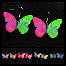 Painted Fashion Cute Pendant Jewelry Acrylic Women 1 Pair Butterfly New Earrings