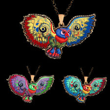 Long Colorful Acrylic Owl Jewelry Sweater Chain Necklace 1 Pcs Pendant Women