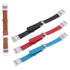PU Leather Strap Wrist Watch Band Bracelet with Buckle For Fitbit Alta HR