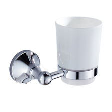 MagiDeal Bathroom Lavatory Single Glass Tumbler with Holder Wall Mounted