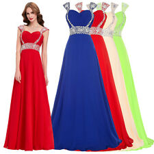 ღFashion Formal Beaded Evening Party Cocktail Formal Ball Gown Long Maxi Dress