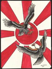 Duel In The Sun Rick Walters Tattoo Eagles Japanese Naval Flag Canvas Art Print