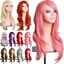 Hot Halloween Cosplay Wig Long Wave Synthetic Hair Full Head Costume Part Dress