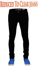 New Mens Seven Series Stretch Skinny Fit Zip Fly Jeans Cotton Denim Trousers