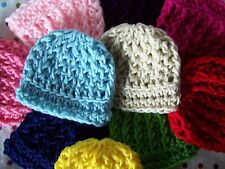SALE ! LOT 10 CROCHET BABY BOY GIRL HAT MICRO PREEMIE NEWBORN 0 3 MONTHS