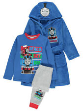 Boys Kids Toddler Official Thomas The Tank Engine Pajamas Dressing Gown Robe Set