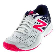 NEW BALANCE - Women`s 696v3 B Width Tennis Shoes White and Alpha Pink - (WC696AL