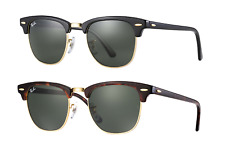 Ray-Ban Clubmaster Sunglasses RB3016 New Authentic (Black / Tortoise)