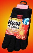 3x Heat Holders Winter Thermal Gloves Black 3M Thinsulate Insulation Tog 1.9 M/L