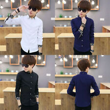 Men's Shirts Korean styles cotton shirt Long sleeved Slim fit Casual