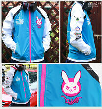 Cosplay  Unisex Sport Sweater Hoodie Overwatch D.VA Hooded Sweatshirt Jackets