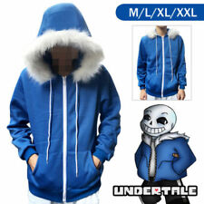 Fashion Mens Cosplay Blue Hoodie Hooded Jacket Coat Sweater Costume Sport Hot
